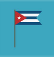 cuba flag icon in flat design vector image