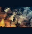 dark gold yellow triangle mosaic template glitter vector image vector image
