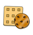 delicious cookies desserts vector image