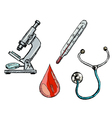 different medical objects vector image