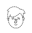 dotted shape avatar man head with hairstyle design vector image