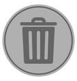 dustbin silver coin vector image vector image