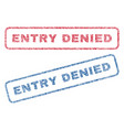 entry denied textile stamps vector image vector image