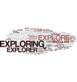 exploring word cloud concept vector image vector image