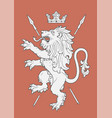 fighting lion insignia vector image vector image