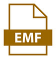 file name extension emf type vector image vector image