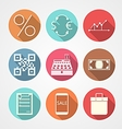 Flat icons for e-commerce vector image vector image