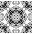 floral black and white pattern vector image
