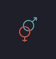 Gender computer symbol vector image