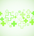 Green medical design vector image vector image