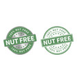 grunge stamp and silver label nut free vector image vector image
