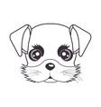 hand drawing cute face puppy vector image