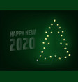 happy new 2020 year concept abstract christmas vector image