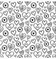 hearts pattern love new-01 vector image vector image