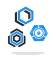 hexagon stock logo modern minimalist vector image vector image