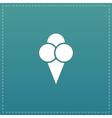 Ice cream flat icon vector image vector image