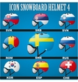 Icon goggles with flag of world vector image vector image