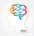 Infographics brain design diagram point style vector image