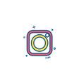 instagram icon design vector image vector image
