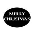 Label with Christmas lettering in old style vector image