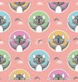 little gray cats seamless pattern vector image