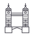 london tower bridge line icon sign vector image