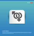 male and female symbols gender icon - blue vector image