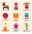 mexican cards vector image
