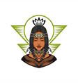native american beautiful girl vector image vector image
