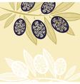 Olive pattern vector image
