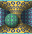 optical motion sphere is rotation vector image vector image