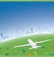 orlando skyline flight destination vector image vector image
