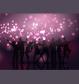 party crowd on bokeh lights background vector image