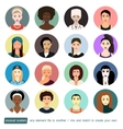 People avatars collection Girls womans in vector image vector image