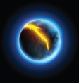 Realistic planet vector image vector image