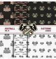 set american football patterns usa sports vector image vector image