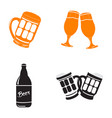 set of beer related objects vector image