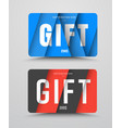 set of gift cards in the style of material design vector image vector image
