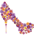 Shoe from flowers vector image vector image