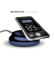 Smartphone on a wireless charge vector image vector image