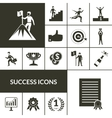 Success Icons Black Set vector image vector image