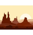 Sunset in huge Mountains vector image vector image