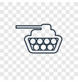 tank concept linear icon isolated on transparent vector image