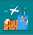Travel concept in flat style vector image vector image