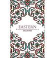 Vintage ornate card with Eastern floral elements vector image vector image