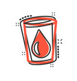 water glass icon in comic style soda glass vector image vector image