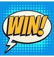 Win comic book bubble text retro style vector image vector image