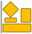 Yellow Roadsigns Set vector image