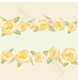 Yellow roses ornate frame background vector | Price: 1 Credit (USD $1)