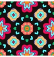 Geometric flower abstract colorful pattern on vector image
